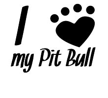 I Heart My Pit Bull by kwg2200