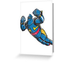Gigantor the space age robot - grungy Greeting Card