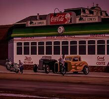 Mural of Trolley and Hot Rods, FRANKLIN, OHIO by pjm286