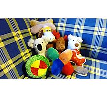 Eddie's Toys - sit on settee in Family room Photographic Print