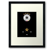 Germany World Cup Champions Framed Print