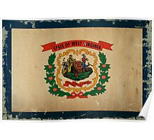West Virginia State Flag VINTAGE Poster
