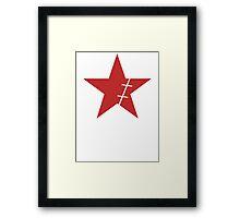 Zoro Crimin Star Framed Print