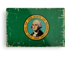 Washington State Flag VINTAGE Metal Print
