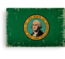 Washington State Flag VINTAGE Canvas Print