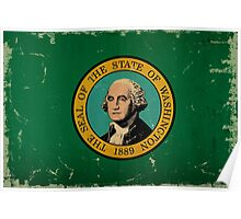 Washington State Flag VINTAGE Poster