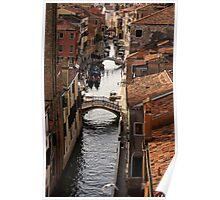 Red Roofs of Venice Poster