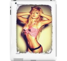 Blonde girl sexy t-shirt iPad Case/Skin