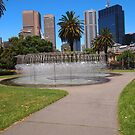 The dancing waters, garden cnr Spring & Victoria Streets Melbourne Vic Australia by Margaret Morgan (Watkins)