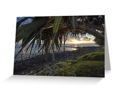 A Fruitful Pandanus Morning Greeting Card