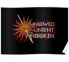 Unbowed Unbent Unbroken - House Martell Poster