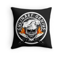 Skull Chef 6: Culinary Genius 2 Throw Pillow