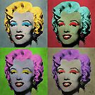 Vampire Marilyn set of 4 by filippobassano