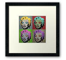 Vampire Marilyn set of 4 Framed Print