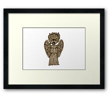 Dr Who- Weeping Angel x French Bulldog Framed Print