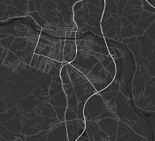 Maribor, Slovenia Map. (White on black) by Graphical-Maps