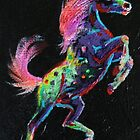 Prancing Pony fridge magnet by louisegreen