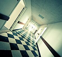 Abandoned Hospital Corridor by Bert Beckers