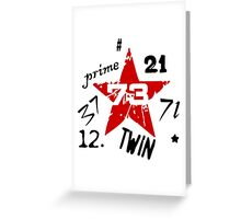 Numbers field 73 Greeting Card
