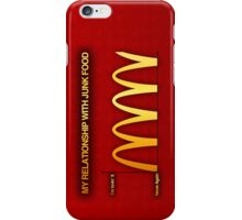 My Relationship With Junk Food Graph iPhone Case/Skin