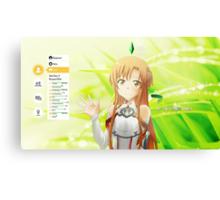 Sword Art Online Asuna Canvas Print