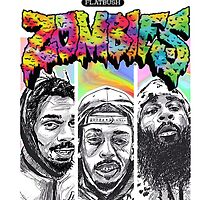 Flatbush Zombies  T-shirt by falahcarlo