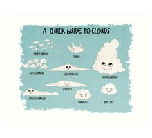 A Quick Guide to Clouds Art Print