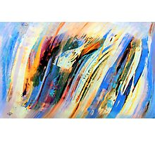 Abstract Oil On Paper Photographic Print
