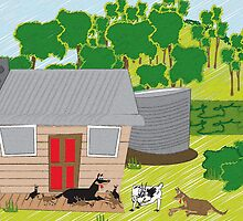 In the farmyard 12 by Diana-Lee Saville