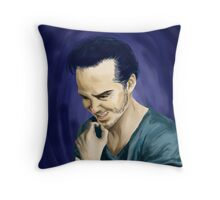 Moriarty with background Throw Pillow