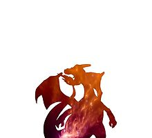 006-Charizard-Space Theme Phone Case by TomsTops
