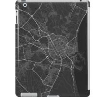 Valencia, Spain Map. (White on black) iPad Case/Skin