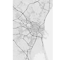 Valencia, Spain Map. (Black on white) Photographic Print