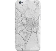 Valencia, Spain Map. (Black on white) iPhone Case/Skin