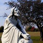 Jesus Kneeling In Prayer by Marie Sharp