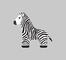 Cartoon Zebra by Marta Jonina