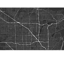 Anaheim, USA Map. (White on black) Photographic Print