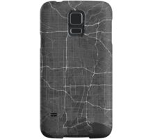 Los Angeles, USA Map. (White on black) Samsung Galaxy Case/Skin