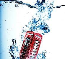Phone Box goes for a Swim by thecameraguys