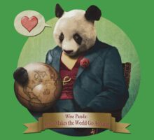 Wise Panda: Love Makes the World Go Around! Kids Clothes