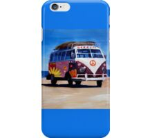 Surf Bus Series - The Groovy Peace VW Bus iPhone Case/Skin