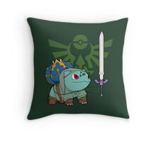 The Hero of Time (and grass) Throw Pillow