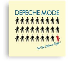 "Depeche Mode : Get The Balance Right - 7"" Canvas Print"