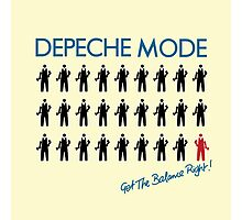 """Depeche Mode : Get The Balance Right - 7"""" Photographic Print"""