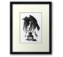 Ink Raven Framed Print