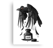 Ink Raven Canvas Print
