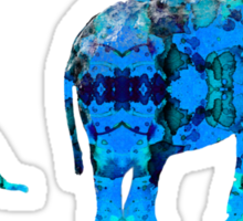 Inkblot Elephants Sticker