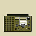 Retro Radio (National Panasonic DR22) by Locally Store