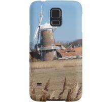 Cley Windmill from the reeds Samsung Galaxy Case/Skin