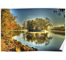 Island - Morning on the Rock River Poster